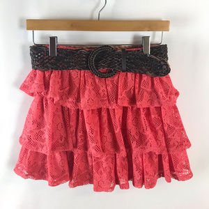 Rue21 Womens Lace Belted Micro Mini Skirt